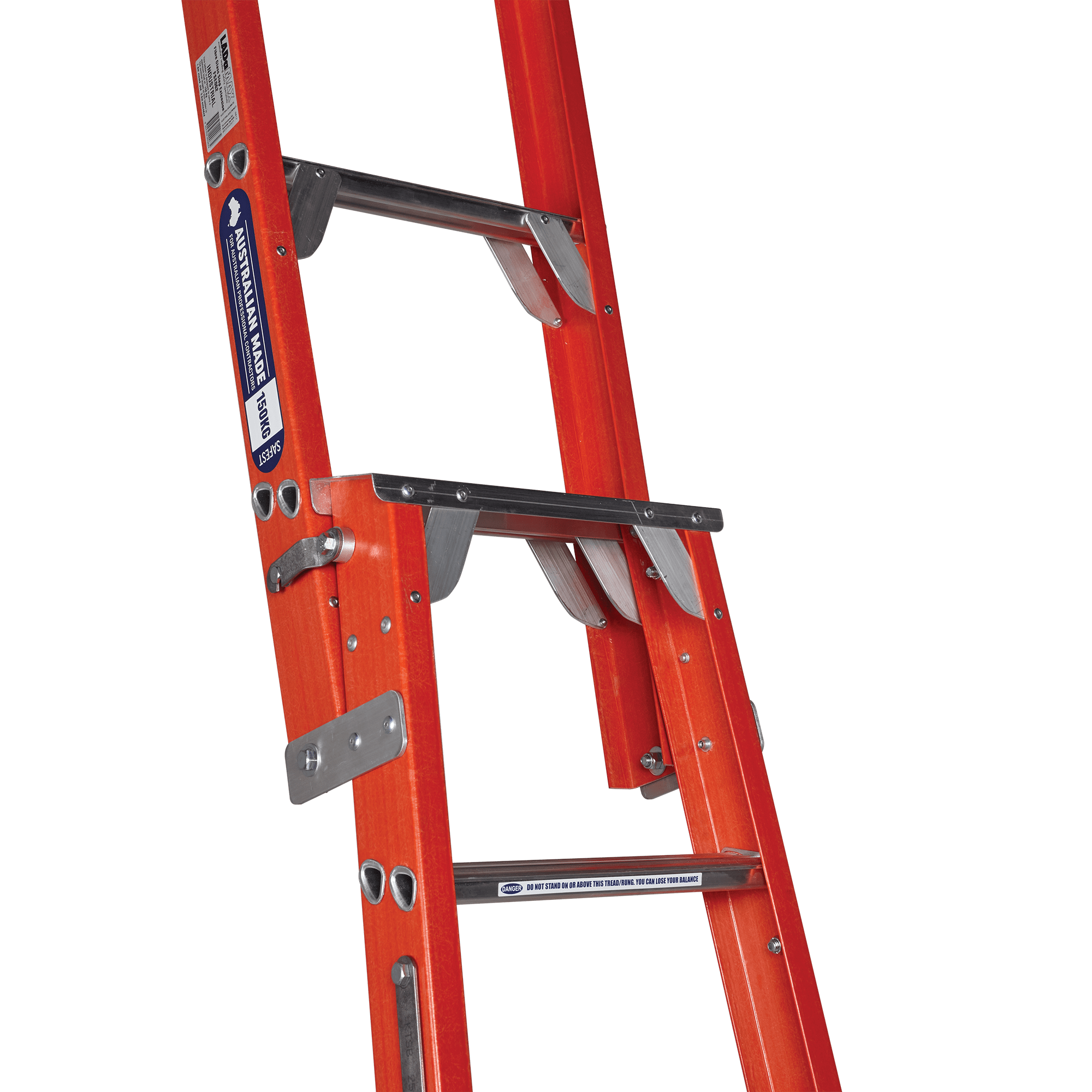 Fibreglass Dual Purpose Step Amp Straight Ladder Ladamax