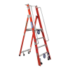 Ladamax Fibreglass Mobile Order Picker Warehouse Ladder Range
