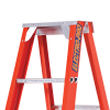 FIBREGLASS SINGLE SIDED STEP LADDER – Close Up