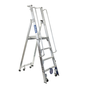 Aluminium Mobile Order Picker Warehouse Ladder Range