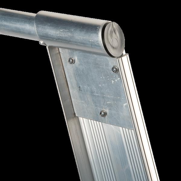 ALUMINIUM PLATFORM STANDARD LADDER - Hand Rail