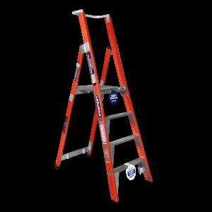 FIBREGLASS PLATFORM STEP LADDER - Premium Range
