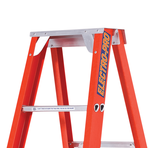 FIBREGLASS SINGLE SIDED STEP LADDER - Close Up